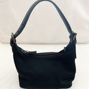 Coach Black Mini Nylon Hobo Bag